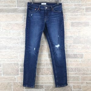 Levi's Altered 711 Distressed Skinny Jeans 29